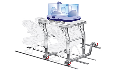 aircraft medical stretcher ucs - Mediprema incubator