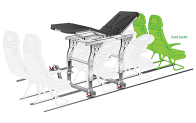 aircraft medical stretcher ucs